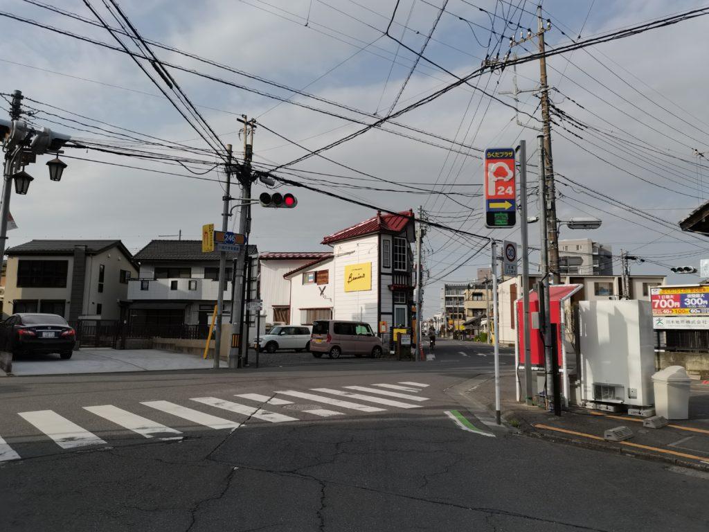 ヒロ整体院への道順(最初の交差点)
